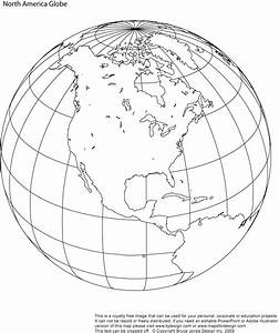 North America printable globe, perfect for a school or ...