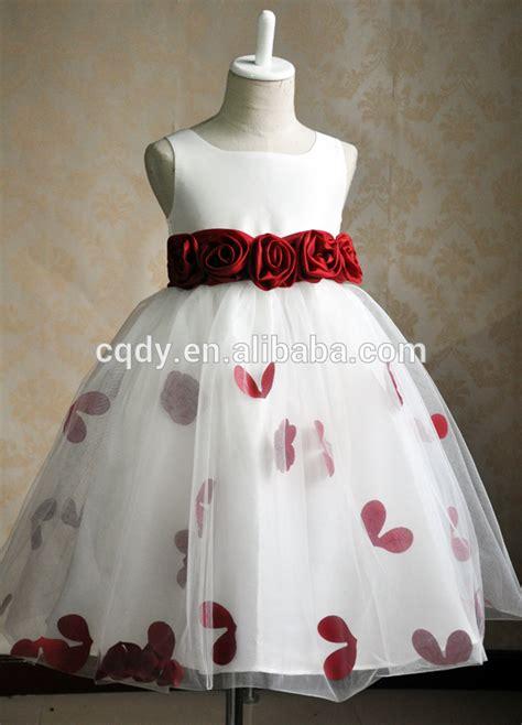 design white princess chiffon girl party wear western