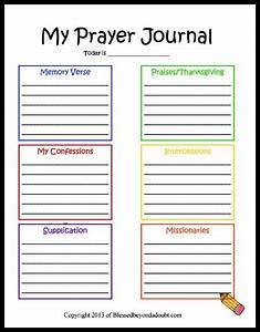 free childrens prayer journal printable 24 7 moms With prayer book template