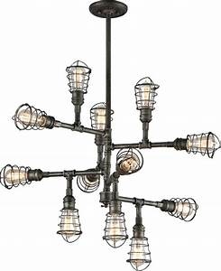 Troy lighting f old silver conduit light industrial