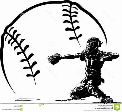Baseball Clipart Softball Catcher Plate Vector Ball