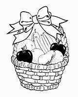 Coloring Basket Fruit Fruits Pages Drawing Printable Colouring Baskets Drawings Sheets Bowl Easy Children Popular Ribbons Coloringhome Decorate Ribbon Coloringkidz sketch template