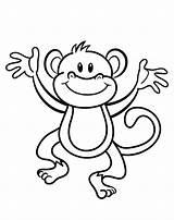 Monkey Coloring Vrolijk Aapje Leukekleurplaten Kleurplaat Cliparts Kleurplaten Affe Weiss Schwarz Clipart Kostenlos Mewarnai Gambar Aap Hewan Kleur Dengan Craftedhere sketch template