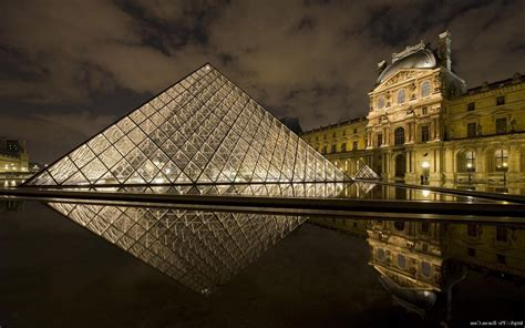 museum reflection  louvre landscape wallpapers hd