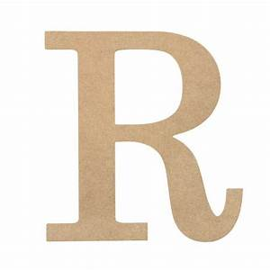 10quot decorative wood letter r ab2042 craftoutletcom With decorative letter r