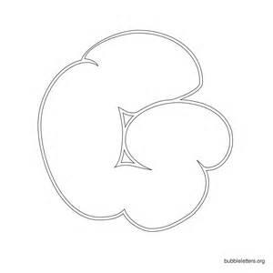 Printable Bubble Letter G