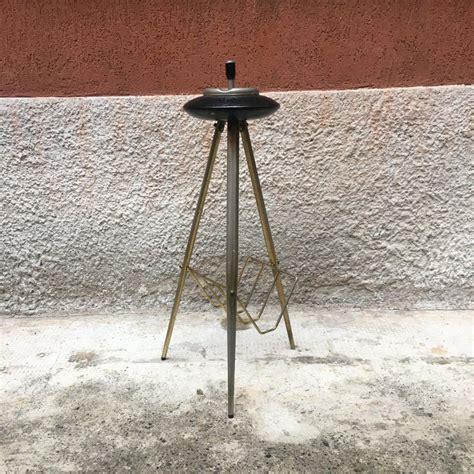 italian golden metal floor ashtray   sale  stdibs
