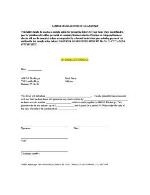 printable sample  bank guarantee forms  templates