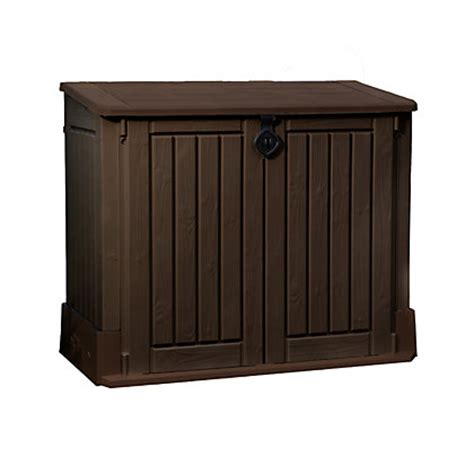 Keter Woodland Midi Storage Box by Keter Store It Out Woodland Midi Garden Storage Brown 845l