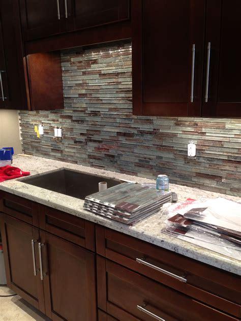 glass tile backsplash  condo kitchen condo kitchen