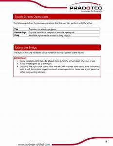 Pradotec Sdh Bhd Hrt500i Handheld Rugged Terminal User Manual