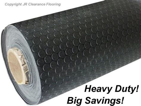 grip flooring black studded anti slip flooring vinyl lino grip floor ebay