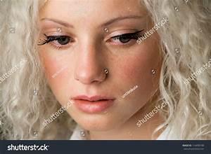 Crying Woman, Beautiful Face With Tear Drops, Facial ...