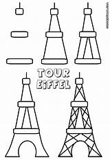 Eiffel Tower Coloring Pages Colorings sketch template