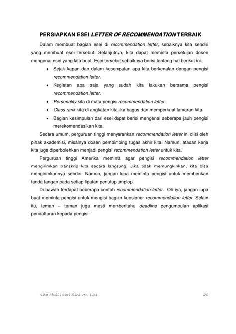 contoh surat rekomendasi beasiswa  teman contoh