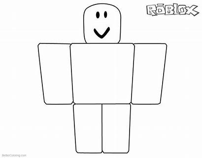 Roblox Coloring Pages Noob Printable Sheets Simple