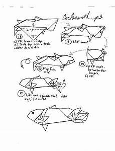 origami fish and sea creatures With origami koi diagram