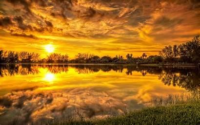 Sunrise Lake Reflection Wallpapers Desktop Backgrounds Freecreatives