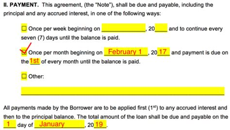 loan agreement templates  word eforms