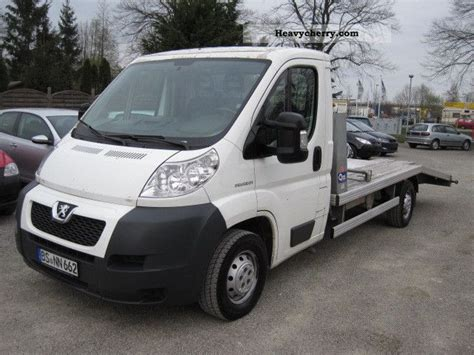 peugeot boxer cer peugeot boxer air 2007 car carrier truck photo and specs