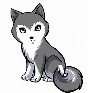 Cute Anime Husky Chibi By Cartoon Drawing - Litle Pups