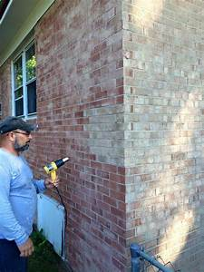 Technology and bricks on pinterest for How to stain exterior brick