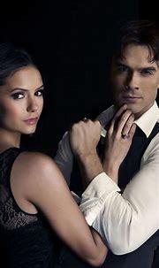 Elena Gilbert and Damon Salvatore - The Vampire Diaries ...