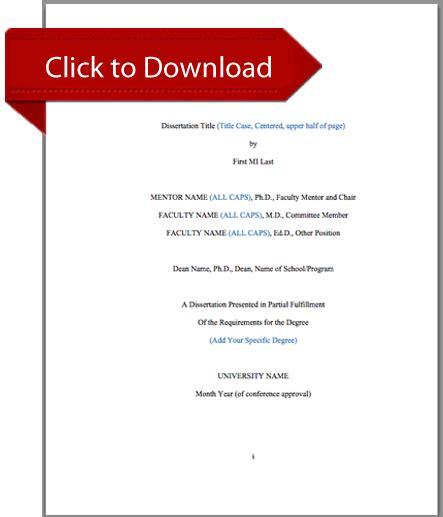 dissertation template statistics solutions