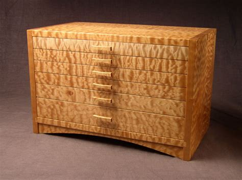 west creek studio arched apron jewel chest  quilted maple