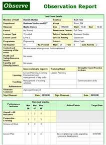 Observation Report Template