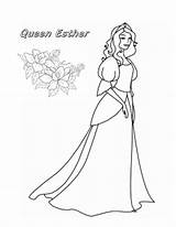 Esther Coloring Queen Printable Purim App Colouring Adult Inspirational Getcolorings Futurama Christian Character Princess Getdrawings Birijus sketch template