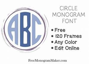 circle monogram font free create online with free With circle monogram maker