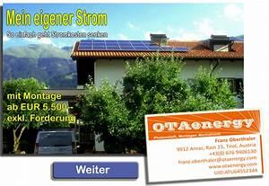 Photovoltaik Preise österreich : impressum otaenergy photovoltaik osttirol ~ Whattoseeinmadrid.com Haus und Dekorationen