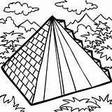 Coloring Pyramid Building Mexican Drawing Aztec Sheet Sky Getdrawings sketch template