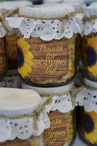 counrty sunflowers bridal wedding shower party ideas With sunflower wedding favor ideas