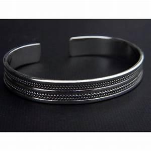 Bracelet En Argent Homme : bijoux jonc homme ~ Carolinahurricanesstore.com Idées de Décoration