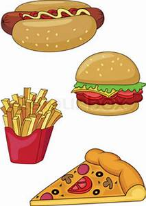 Photo-realistic vector. Big group of fast food products ...