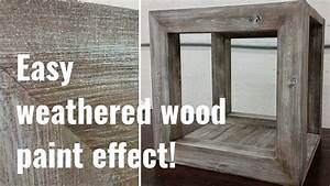 Simple to follow barnwood paint effect tutorial! - YouTube