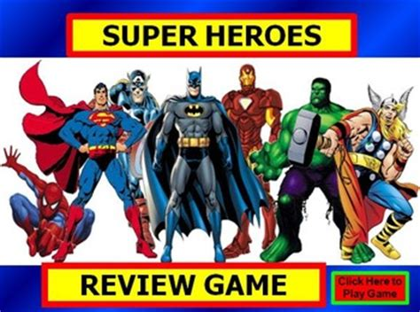 superhero review game template powerpoint  bethany