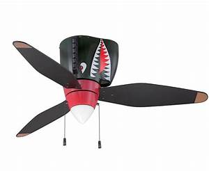 P-40 Tiger Shark Warbird Airplane Ceiling Fan Airplane