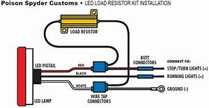How To Install Poison Spyder Led Resistor Kit For Led Tail