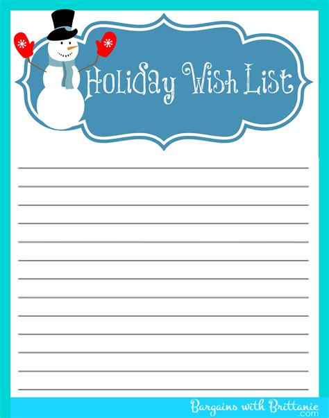 5 best images of free printable christmas list maker