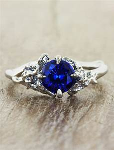 devi sapphire With nature inspired wedding rings
