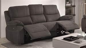 canape de relaxation 3 places moderne en tissu russell With tapis de yoga avec canapé tissu microfibre