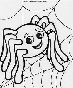 Spider Coloring Sheet Free Coloring Sheet