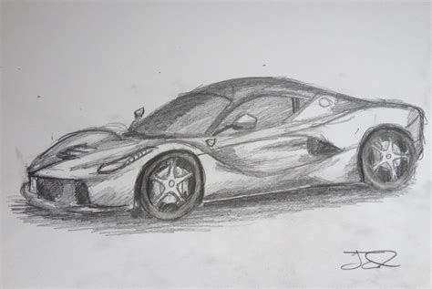 ferrari drawing how to draw a ferrari laferrari youtube