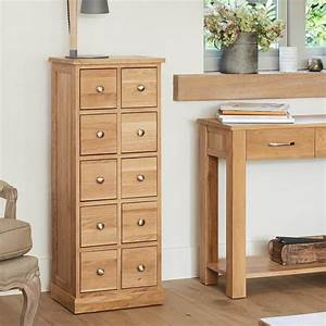 Abdabs Furniture Multi Drawer DVD Storage Chest Mobel Oak