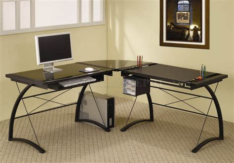 glass home office desk desk glass desk with drawers with regard to modern glass