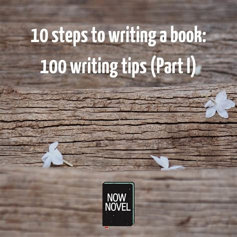 10 Steps To Writing A Book  100 Tips (part 1)  Now Novel
