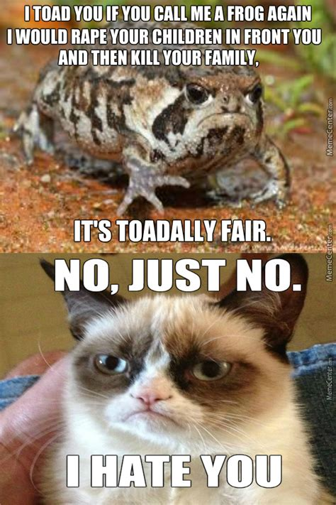 Grumpy Cat Vs Grumpy Toad By Evomemes  Meme Center